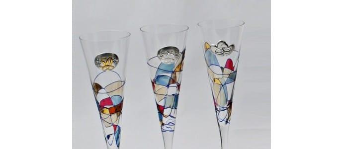 Aniversarios con Copas de champagne Milano